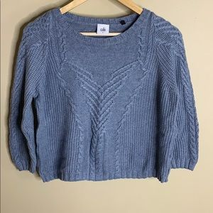 Cabi short and sweet blue crop sweater